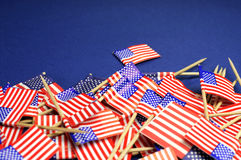Abstract background of USA Stars and Stripes close up with copy space. Stock Photos