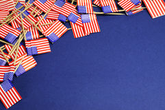Abstract background of USA Stars and Stripes with copy space. Royalty Free Stock Images