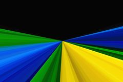 Abstract background using brazil flag colors. Rays Colorful stripes beam pattern. Stylish illustration backdrop. Abstract glitter lights background using brazil Stock Images