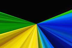 Abstract background using brazil flag colors. Rays Colorful stripes beam pattern. Stylish illustration backdrop. Abstract glitter lights background using brazil Royalty Free Stock Image