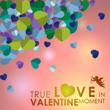 Abstract background of Valentine's day. Stock Image