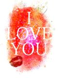 Abstract background for Valentine with the words. I love you. Stock Photo