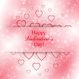 Abstract background for Valentines Day with hearts. Background for your design and business vector illustration
