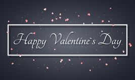 Abstract background for Valentines day. Light pink hearts. Luxury card for Valentines day. Red confetti and glitter. Abstract whit Stock Photo