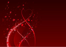 Abstract background for Valentines day. Red heart symbol of love Royalty Free Stock Photos