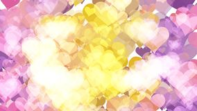 Abstract background with various multicolored hearts. Big and small. Aesthetic colored background vector illustration