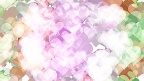 Abstract background with various multicolored hearts. Big and small. Violet colors stock illustration