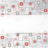 Abstract background with various technological elements. Vector Stock Photography