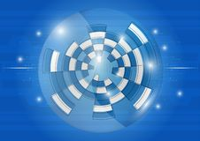 Abstract background with various technology elements Hi-tech communication concept. Innovation background royalty free illustration