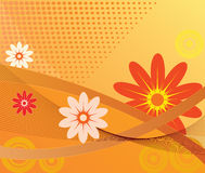 Abstract background - vector. Abstract art floral background - vector stock illustration