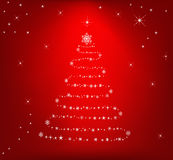 Abstract background - vector. Abstract Christmas tree background - vector royalty free illustration
