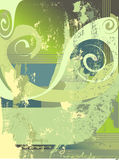 Abstract background (vector). Abstract background in green colors (vector file in *.EPS format is included Stock Image