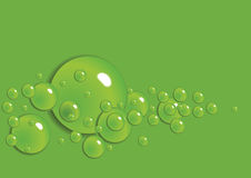 Abstract background. Vector. Abstract background with bubbles in the layer of water. Vector Royalty Free Illustration