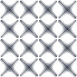 Abstract background. Vector abstract seamless. Geometric black and white pattern. Repeating geometric tiles with squares. Modern ornament from rhombus. Arrows Royalty Free Illustration