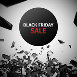 Abstract Background Vector. Black Friday Sale Abstract Vector Illustration Royalty Free Illustration
