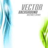 Abstract Background. Vector abstract background. Blue and green waves on the white royalty free illustration