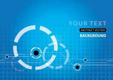 Abstract Background Vector. Blue Abstract Technology Background Vector royalty free illustration