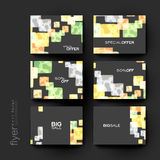 Abstract background vector brochure template. Flyer Layout. Creative modern design Stock Image