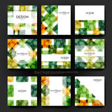 Abstract background vector brochure template. Flyer Layout Royalty Free Stock Images