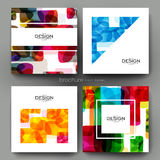 Abstract background vector brochure template. Flyer Layout Stock Image
