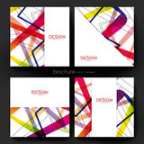 Abstract background vector brochure template. Flyer Layout. Creative modern design Stock Photography
