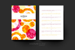 Abstract background vector brochure template. Flyer Layout. Creative modern design Royalty Free Stock Images