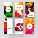Abstract background vector brochure template. Flyer Layout Royalty Free Stock Photography