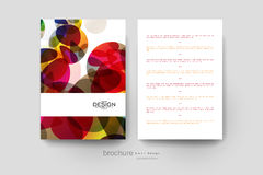 Abstract background vector brochure template. Flyer Layout. Creative modern design Stock Photo