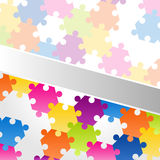 Abstract Background Vector colorful puzzle Royalty Free Stock Images