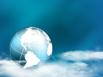 Abstract background. Vector concept  background with globe in the clouds. Eps10 Stock Photography
