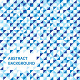 Abstract background - vector concept illustration in blue colors. Geometric design pattern Stock Image