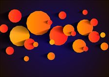 Abstract background with vector design elements. Background with bright geometric shapes Royalty Free Stock Photo