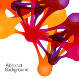 Abstract background with vector design elements. Metaball vector illustration