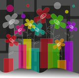 Abstract background. Abstract vector background with flowers stock illustration