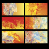 Abstract background vector. Abstract flowing cloudy flame background set Stock Photos