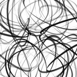Abstract background. Vector illustration with black and gray dynamic lines on white. Abstract background. Vector illustration with black and gray dynamic lines Stock Photography