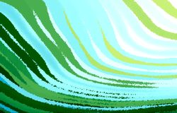 Light  background. Wavy stripes diverging from the lower corner to the edges in different direction. Effect oil paint. Stock Photo