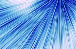 Blue background. Stripes diverge from the upper corner downwards. Abstract background. Vector for Illustration & Clipart. Vector for Web design. Blue and white Stock Image