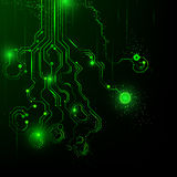 Abstract background. Vector illustration. Microcircuit. Royalty Free Stock Photos