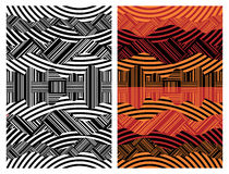 Abstract Background. Vector illustration of an abstract background in two variations Royalty Free Stock Images