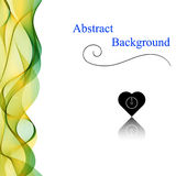 Abstract Background. Vector Illustration. Vertical wave Royalty Free Stock Photo