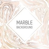 Marble paper texture imitation, suminagashi ink stains background, blush pink and gold. Abstract background, vector marble texture imitation. Marbleized pattern royalty free illustration