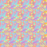 Abstract background. Vector abstract pattern background with circles and flowers Stock Images