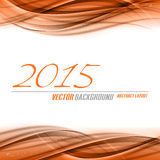 2015 Abstract Background. Vector background. Red waves as new year 2015 layout Royalty Free Stock Photography