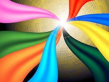 Abstract Background. Ribbon, line and flare royalty free illustration