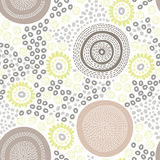 Abstract  background. Vector seamless pattern. Vector abstract background with doodle flowers and circles Stock Photography