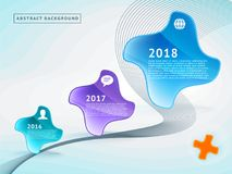 Abstract background. Timeline. Roadmap. Abstract background with vector shapes. Timeline. Roadmap vector illustration