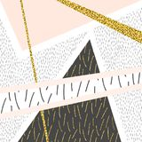 Abstract background. Vector stylish hipster pattern, background. Modern abstract composition with gold glitter elements Royalty Free Stock Image