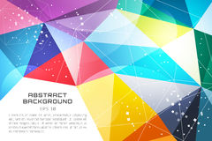 Abstract background vector technology wallpaper. Triangle, color lines, pattern and geometric art. Stock vectors illustration royalty free illustration