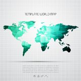 Abstract background with vector world map. EPS 10 Stock Photography